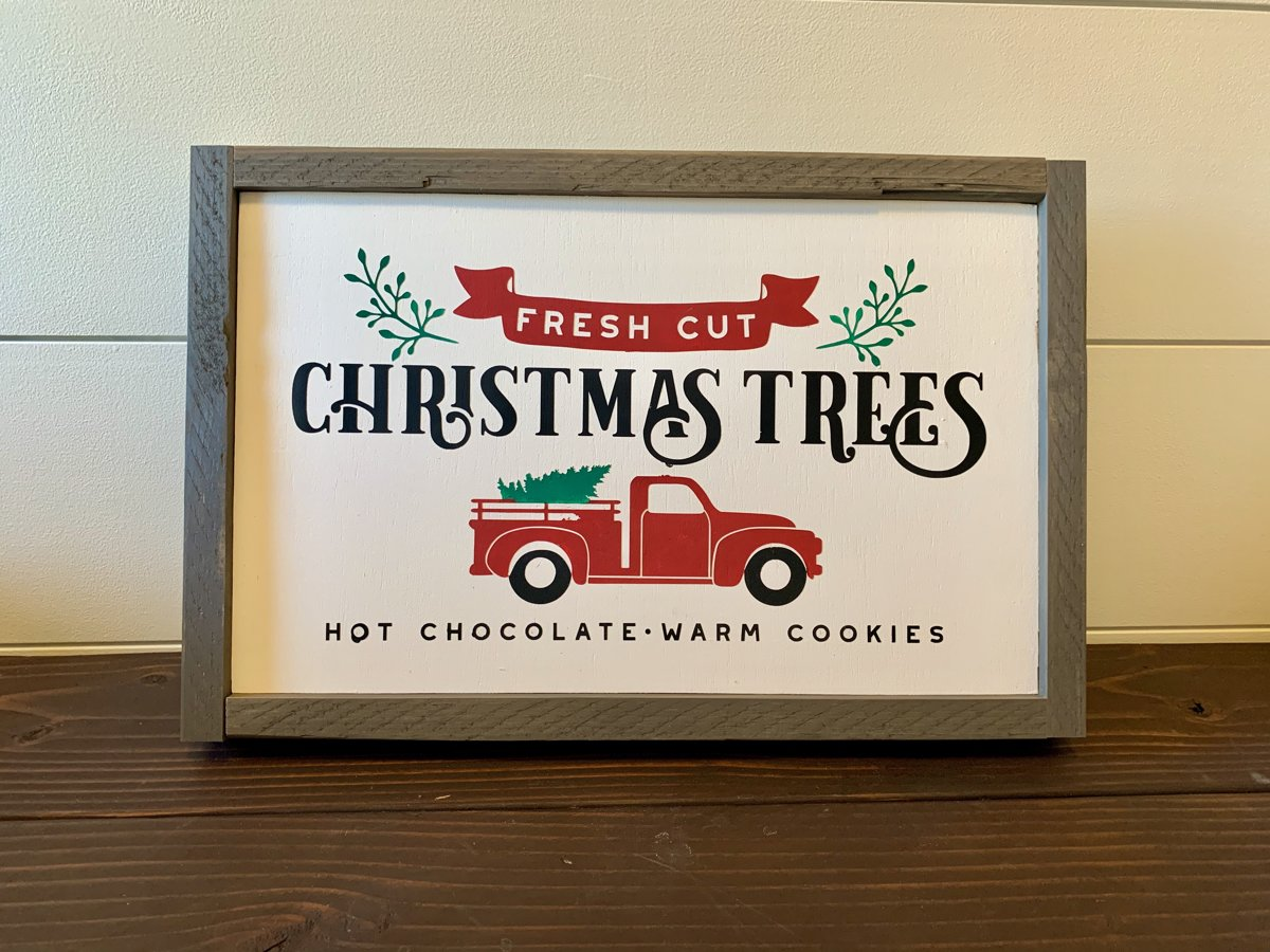 Christmas Tree Truck Sign